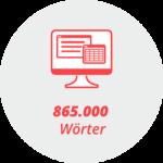 """Piktogramm """"865.000 Wörter"""": Ein Bildschirm"""